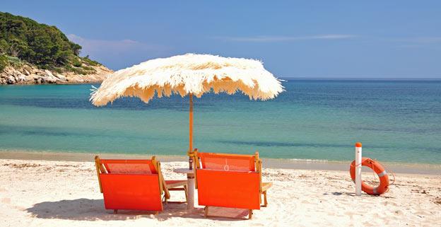 strand nær pisa