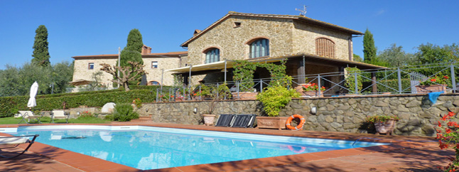 villa in tuscany with privat pool