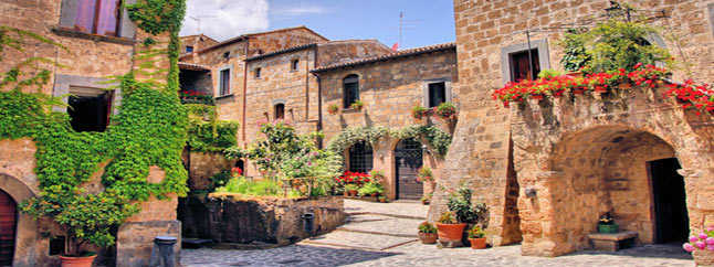 Authentic holiday homes in village in Umbria Italy