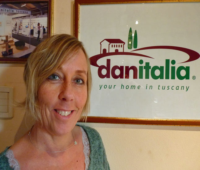 Marie in danitalias office in Lucca Tuscany